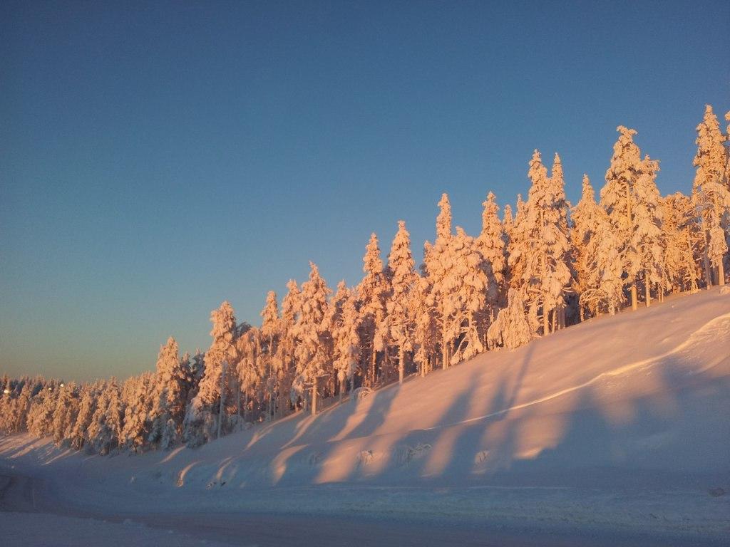Полдень в Леви в середине января