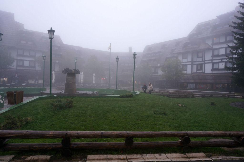 Копаоник встретил нас туманом и температурой в +3С
