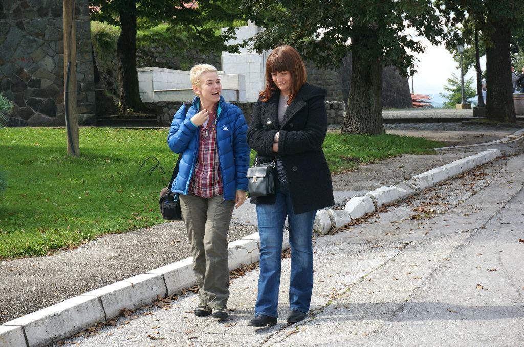 """На фото слева направо Наталья Дубровская (""""Вокруг света"""") и Елена Конопляник (""""Бирс трэвел"""")"""