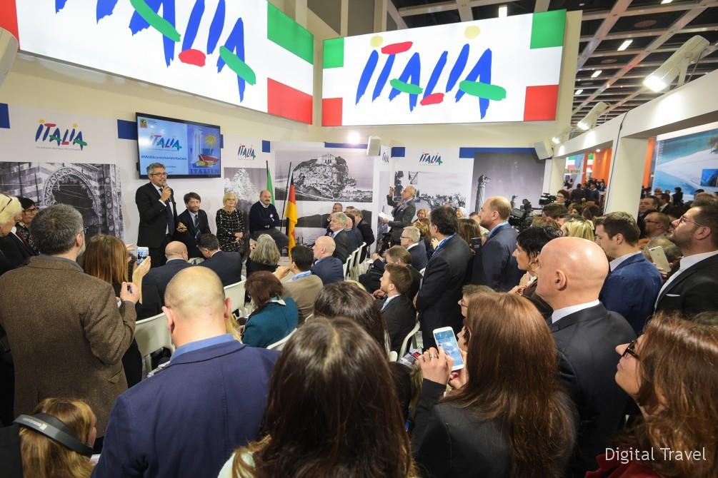 Opening Ceremony of the ITALIAN booth at ITB Berlin