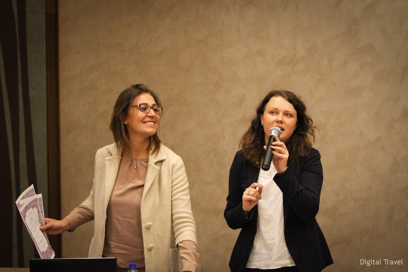 Представители принимающих компаний Франческа Растелли (Italcamel) и Татьяна Ломакина (The Doge of Venice)