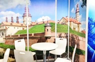 Фотофакт: как выглядит стенд Нацагентства по туризму Беларуси на выставке в Грузии