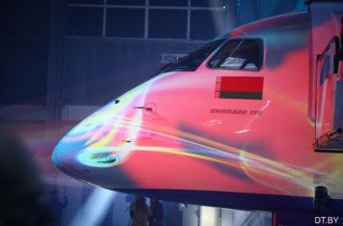В аэропорту «Минск» встретили новый Embraer-175 «Белавиа»